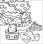 Coloriage de Noël pour les enfants.