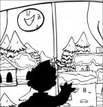 Conte La Nuit avant Noël, un enfant cherche le père Noël