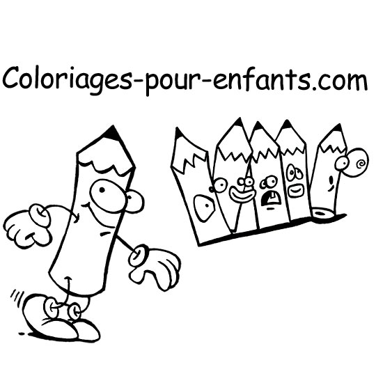 coloriage coloriages pour enfants les logos du site coloriage crayons de couleur le logo du. Black Bedroom Furniture Sets. Home Design Ideas
