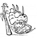 Coloriage Dinosaure, le tricératops de nos bons plans pour enfants