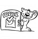 Coloriage Petit nounours, le logo du portail stephyprod depuis 2011