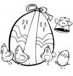 Coloriage Vacances de Pâques, les petits poussins de Pâques