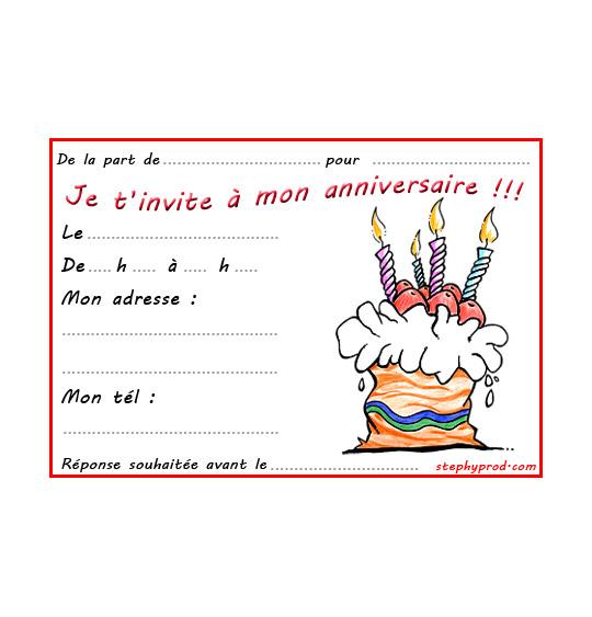 Dessin carte anniversaire pour enfant, le gâteau au chocolat, thème Gâteaux