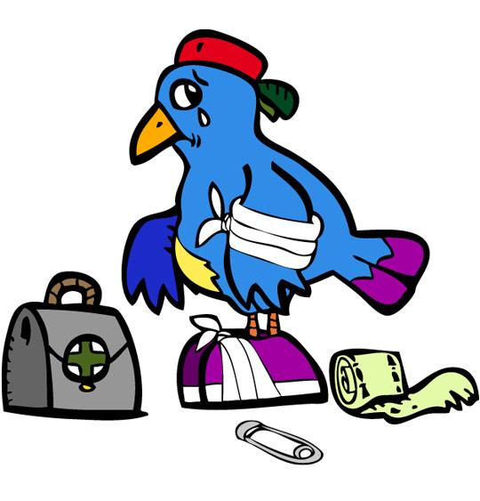 Dessin À la Volette, un oiseau blessé, catégorie Chanson pour enfants À la Volette