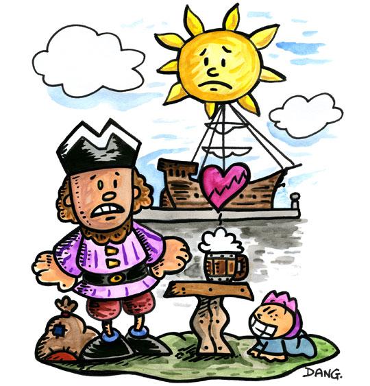 Dessin Brave Marin, notre marin a le coeur brisé, thème Hommes