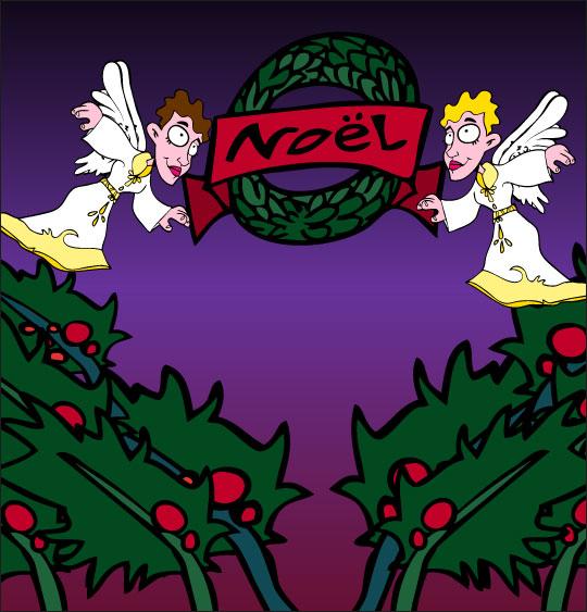 Dessin chanson de Noël Il est né le divin enfant, joyeux Noël, catégorie Chanson de Noël Il est né le divin enfant