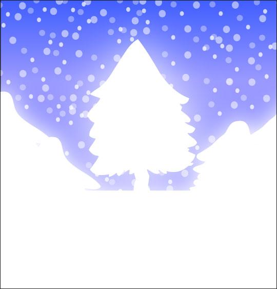 Dessin chanson de Noël Mon beau sapin caché sous la neige, catégorie Chanson de Noël Mon beau Sapin
