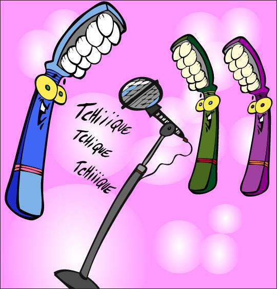 Dessin La Brosse à Dents, les brosses à dents chantent, catégorie Chanson pour enfants La Brosse à Dents