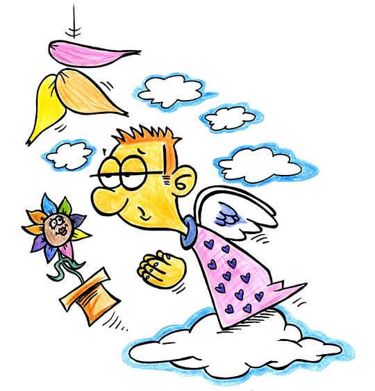 Dessin La Fleur de toutes les Couleurs, je serai comme un ange, catégorie Chanson fête des mères La Fleur de toutes les Couleurs