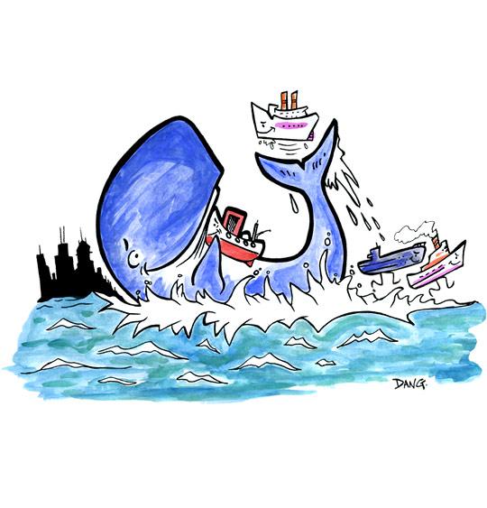 Dessin La Java du Cachalot, Jo secoue les bateaux, catégorie Chanson pour enfants La Java du Cachalot