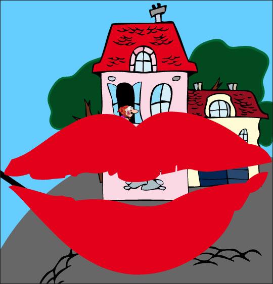 Dessin La mère Michel, la mère Michel veut un baiser, catégorie Chanson pour enfants La mère Michel