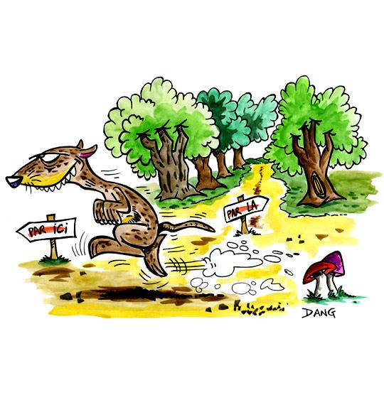 Dessin Le furet, il court dans la forêt, catégorie Chanson pour enfants Le furet