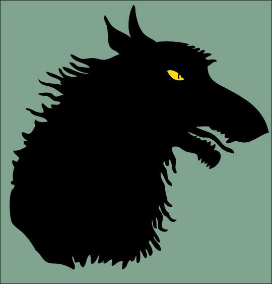 Dessin Le Loup Sympa, ombre de loup, catégorie Chanson pour enfants Le Loup Sympa