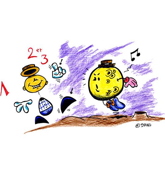 Dessin Swing la Lune, je danse avec la lune, catégorie Chanson pour enfants Swing la Lune