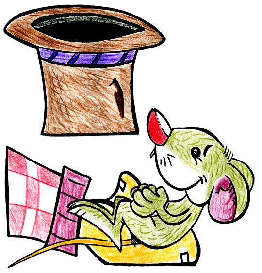 Dessin Une souris verte, la souris verte dans le creux de ma main, catégorie Chanson pour enfants Une souris verte