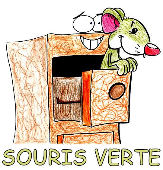 Dessin Une souris verte, la souris verte dans le tiroir, thème Souris