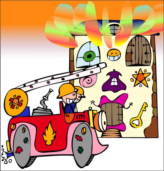 Dessin comptine au feu les pompiers dessin comptine au feu for Au feu les pompiers la maison