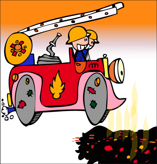 Dessin camion dessin comptine au feu les pompiers trop for Au feu les pompiers la maison