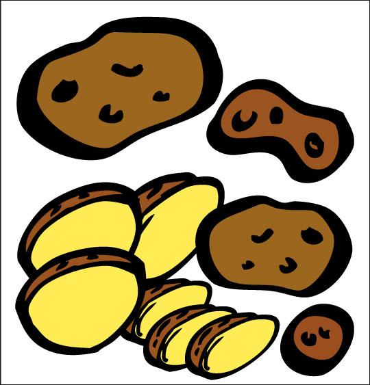 Dessin La soupe à la sorcière, les pommes de terre, catégorie Vacances de la Toussaint avec les enfants, une rubrique Stéphyprod