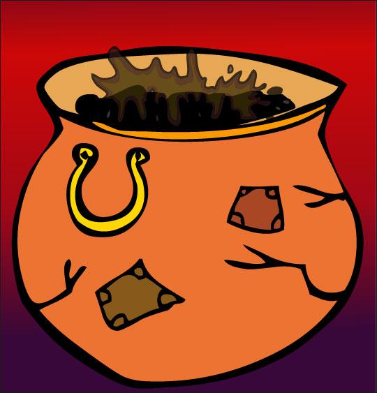 Dessin comptine La soupe à la sorcière, une marmite de soupe bien brulée, catégorie Vacances de la Toussaint avec les enfants, une rubrique Stéphyprod