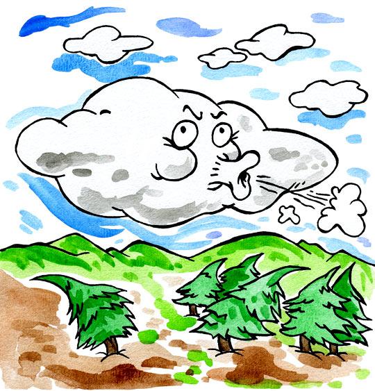 Dessin comptine vent frais vent du matin dessin comptine - Nuage et vent ...