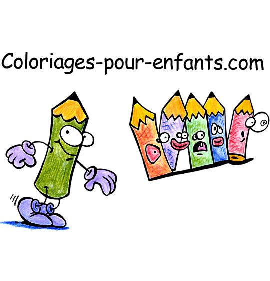 Dessin crayons de couleur, le logo du site depuis 2011, catégorie Coloriages pour enfants, les logos du site