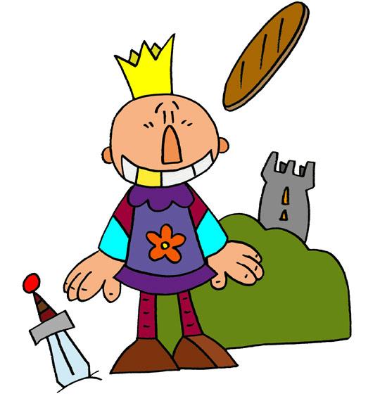 Dessin La galette des rois, le roi Galette, thème Gâteaux