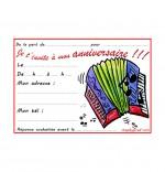Dessin Carte anniversaire pour enfant, l'accordéon