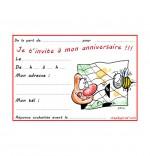 Dessin Carte anniversaire pour enfant, l'araignée et le frelon