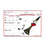 Dessin Carte anniversaire pour enfant, la clarinette