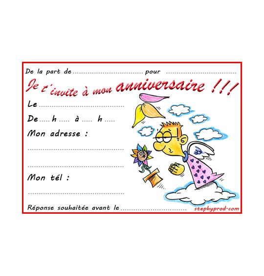 Dessin carte anniversaire pour enfant, la fleur de toutes les couleurs, un ange, illustrateur Dang