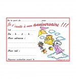 Dessin Carte anniversaire pour enfant, la fleur de toutes les couleurs, un ange