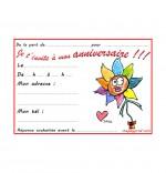 Carte anniversaire pour enfant, la fleur de toutes les couleurs