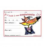 Dessin Carte anniversaire pour enfant, le loup en costume