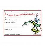Illustration Carte anniversaire pour enfant, petit moustique