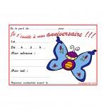 Illustration Carte anniversaire pour enfant, un papillon bleu
