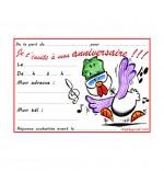 Dessin Carte anniversaire pour enfant, une poule qui danse