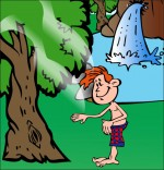 Dessin Chanson À la Claire Fontaine, sous les feuilles d'un chêne