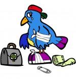 Dessin Petit oiseau est blessé.