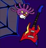 Dessin Chanson L'araignée, l'araignée et la guitare électrique