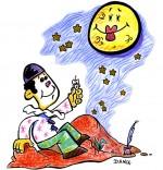 Dessin Chanson Au Clair de la Lune, Pierrot et la lune