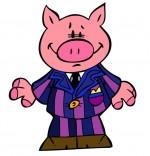 Dessin Chanson Bébé cochon, bébé cochon en costume