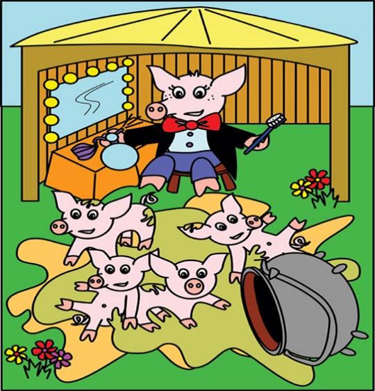 Dessin Chanson Bébé cochon par Emareva, illustrateur Emareva