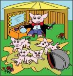 Dessin Chanson Bébé cochon par Emareva