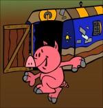 Illustration Chanson Bébé cochon, un bébé cochon danse