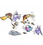 Dessin Chanson Berlingot le crapaud, le gros canard et les poissons