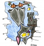 Illustration Chanson Chauve-souris, chauve-souris les pieds en l'air