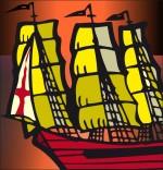 Illustration Chanson de marins Le 31 du mois d'août, un navire anglais