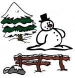 Dessin Chanson de Noël Jingle Bells Le Bonhomme de neige