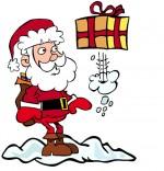 Illustration Chanson de Noël Jingle Bells Le père Noël  et le cadeau coquin